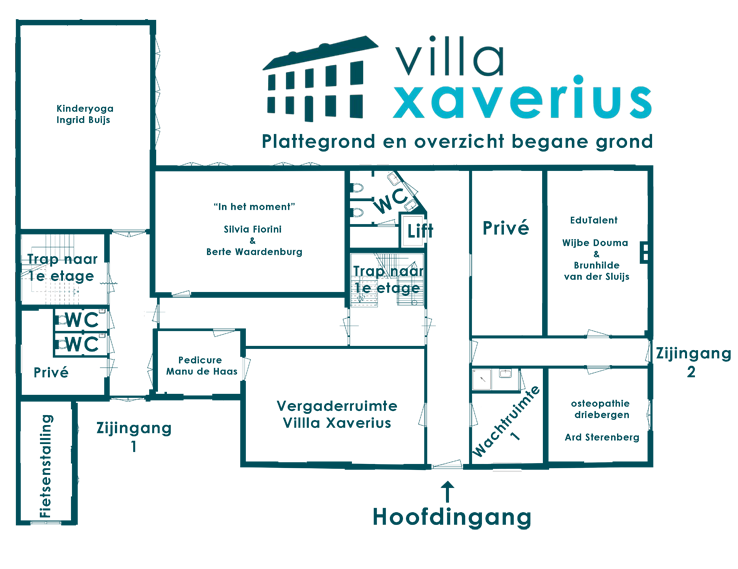 Villa Xaverius- begane grond
